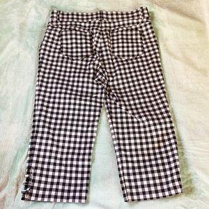 Verve Blues Pants & Jumpsuits - Verve Blues White and Black Gingham Capris